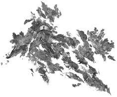 Les paysages parcellaires bâtis de Claire Trotignon   Meer prachtige bergblikken op / more beautiful mountain sights on: http://www.laboiteverte.fr/les-paysages-parcellaires-batis-de-claire-trotignon/