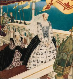 Mary, Queen of Scots by Edmund Dulac, cover of American Weekly Magazine, 10 June 1934