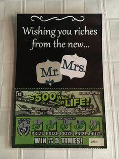 Exclusive Wedding Lottery Ticket Holder Favors Only At Adornibles (Wishing you riches from the new Mr. and Mrs. Comment Boxes) Pack of 25 by Adornibles on Etsy