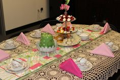 Table set up for our fancy tea party