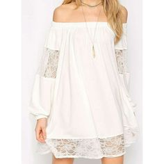 Wholesale Sexy Off-The-Shoulder Long Sleeve See-Through Solid Color Women's Dress Only $8.23 Drop Shipping   TrendsGal.com