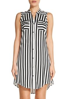 This looks so comfy - and the stripes are in the right direction. Would wear with jeans or leggings though. Simple Dresses, Casual Dresses, Casual Outfits, Fashion Dresses, Maxi Dress With Sleeves, Shirt Dress, Cool Outfits, Summer Outfits, Ankara Gown Styles