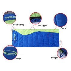 Adult Camping Sleeping Bag Outdoor Hiking Warmly Sleep System With Carry Bag