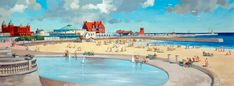 Frederick Donald Blake 'Gorleston-on-Sea, Norfolk' (British Railways carriage print original) Mysterio Marvel, Map Of Britain, The Blitz, Railway Posters, Lego Marvel Super Heroes, British Rail, Houses Of Parliament, Westminster Abbey, Art Uk