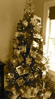 "I think making a family ""tree"" would be a great idea this year!!!  I am taking this idea to the next personalized level..."