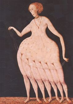 I would say this is some sort of octopus woman but she has 7 legs and 2 arms soooo I guess that's out.