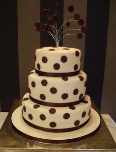 #Spotted Wedding Cake  Thanks again for viewing...feel free to Pin, Like, or Comment!