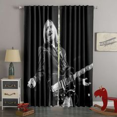 3D Printed Tom Petty Style Custom Living Room Curtains – Westbedding