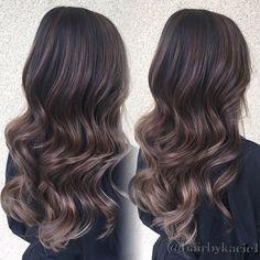 Balayage and Haircut for Vi @vihpham Tone&Style by @hairbypkilla #hairbykacie #balayage #Babylights #modernsalon #americansalon #behindthechair #teamkacie #teamnobrass #ash #asianhair #longlayers #textured #haircut #PURPLE