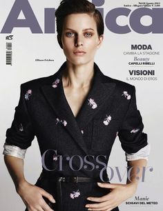 Magazines - The Charmer Pages : Ellinore Erichsen on Cover for Amica August 2013