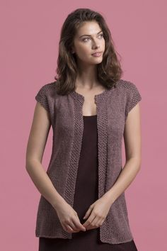 Gaia Duster in Ariana Diy Crafts Knitting, Creative Knitting, Knit Vest Pattern, Sweater Knitting Patterns, Diy Crafts Dress, Girl Film, Knitting Magazine, Vest Outfits, Crochet Woman