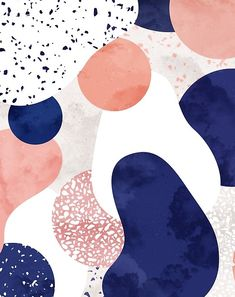 'Terrazzo galaxy pink blue white' Tapestry by Sylvain Combe Terrazzo memphis galaxy pink blue white - Sylvain Combe. Wallpaper Pink And White, Trendy Wallpaper, New Wallpaper, Wallpaper Backgrounds, Wallpapers, Terrazzo, Abstract Pattern, Pattern Art, Blue And White Comforter