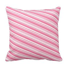 Vintage Pink and White Stripes Pillow - bridal shower gifts ideas wedding bride
