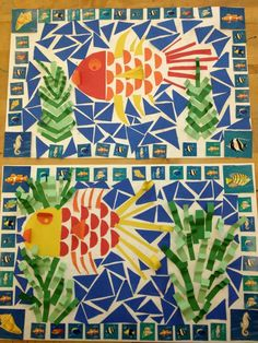pinterest for elementary art teachers | Mosaic Fish/Elementary Art(art teacher: v. giannetto)