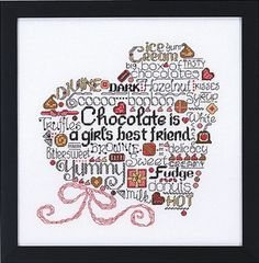 LET'S DO CHOCOLATE - Counted Cross Stitch Pattern