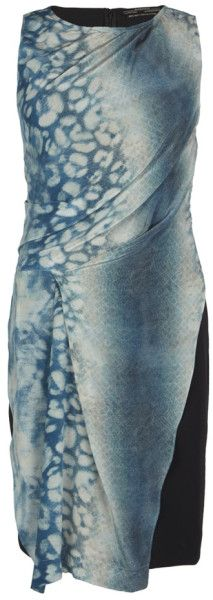 Allsaints Blue Serpent Dress