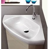 Buy the Nameeks CeraStyle Hole White - One Hole Direct. Shop for the Nameeks CeraStyle Hole White - One Hole CeraStyle Ceramic Wall Mounted Bathroom Sink with 1 Faucet Hole and Overflow and save. Wall Mounted Bathroom Sinks, Undermount Bathroom Sink, Bathroom Storage, Corner Sink Bathroom Small, Bathroom Mirrors, Basement Bathroom, Contemporary Bathroom Sinks, Modern Sink, Primitive Bathrooms