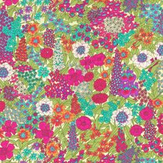 Liberty Fabric Tana Lawn Ciara A - Alice Caroline - Liberty fabric, patterns, kits and more - Liberty of London fabric online Liberty Art Fabrics, Liberty Of London Fabric, Liberty Print, Cool Patterns, Fabric Patterns, Print Patterns, Pattern Designs, Green Turquoise, Pink And Green