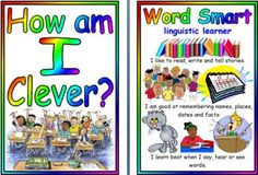 Printable 'How am I Clever' learning styles posters.
