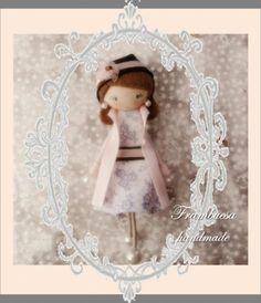 gabardina rosa  fieltro  tela  cinta cosido pegado