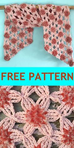 FREE pattern for lovely soft and furry flowers. Crochet Classes, Crochet Videos, Crochet Projects, Crochet Gifts, Crochet Doilies, Crochet Flowers, Crochet Lace, Crochet Pillow, Crochet Stitch