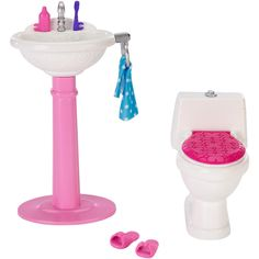 Barbie Dream Bathroom Doll Furniture Set BRAND NEW #Barbie