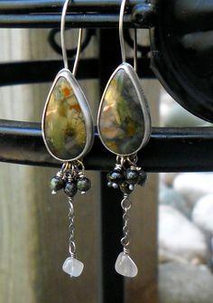 Morrisonite and Sterling Silver Rustic Artisan by HeidiLeeDesign