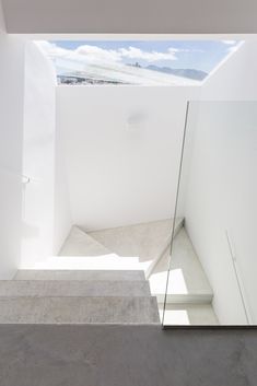 Image 10 of 28 from gallery of Graham and Angus House / DTR_studio architects. Photograph by Cris Beltran Home Projects, Design Projects, Graham, Stair Railing, Railing Ideas, Building Extension, Light Well, Light And Space, House Stairs