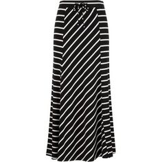 Spliced Stripe Maxi Skirt