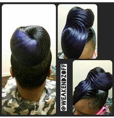 #highbun #buns&ridges #purple