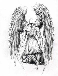 Angel Tattoo Designs - The Body is a Canvas   tatuajes | Spanish tatuajes  |tatuajes para mujeres | tatuajes para hombres  | diseños de tatuajes http://amzn.to/28PQlav