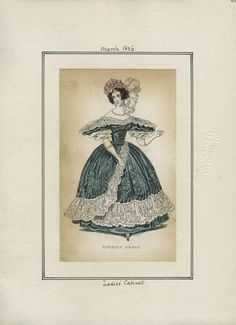 Casey Fashion Plates Detail | Los Angeles Public Library Ladies' Cabinet Date:  Tuesday, March 1, 1836
