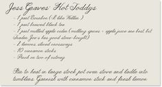 THE LOVE LIST - Hot Toddy