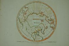 Map North Pole by W Barker 1795