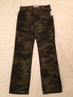 Old Navy Boys Size 12 Skinny Adjustable Green Camouflage Pants
