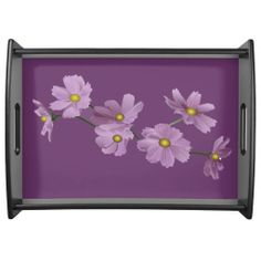 Purple Cosmos Design Serving Tray