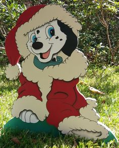 Dalmatian Santa Christmas Yard Art Made To Order For Client By De