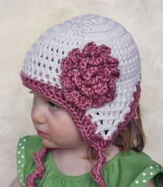 Curly Twirly Tails Ear Flap Hat Crochet Pattern by SunsetCrochet