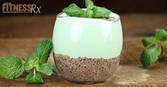 Mint Chocolate Chia Seed Pudding - Delicious High Protein, High Fiber Treat · A classic New England dessert, Grape-Nut Custard Pudding is a lightly-sweetened egg custard combined with Grape-Nuts cereal, cinnamon, and nutmeg. Chocolate Chia Seed Pudding, Mint Chocolate, Chia Seed Tapioca Pudding Recipe, Protein Snacks, High Protein, Protein Power, Protein Pancakes, Chia Seeds Protein, Chia Recipe