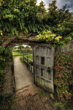 The Shiny Squirrel Garden Doors, Garden Gates, Garden Entrance, Entrance Gates, Modern Entrance, Patio Doors, The Secret Garden, Secret Gardens, Dream Garden
