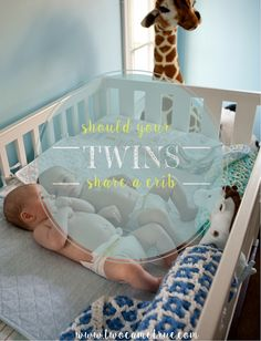 A few useful things to keep in mind if your twins share a crib
