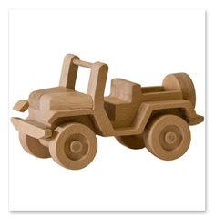 Handcrafted wooden car, via Etsy.