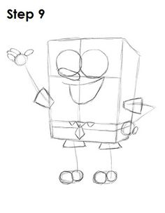 How to Draw Spongebob Step by Step + Funny sketch and Picture Epic Drawings, Easy Cartoon Drawings, Disney Character Drawings, Drawing Cartoon Characters, Funny Sketches, Art Sketches, Spongebob Drawings, How To Draw Spongebob, Spongebob Friends