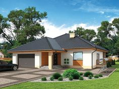 Simple Bungalow House Plans And Design That Fits Your Lifestyle. Simple Bungalow House Designs, Bungalow Haus Design, Simple House Design, Bungalow House Plans, Ranch House Plans, Style At Home, Roof Design, Garden Stones, Modern Kitchen Design
