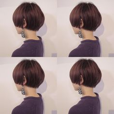 Another bowl cut 😍 Short Bob Haircuts, Short Hairstyles For Women, Curled Hairstyles, Cool Hairstyles, Very Short Hair, Short Hair Cuts, Shot Hair Styles, Asian Hair, Crazy Hair