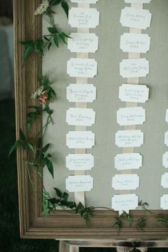 Framed Seating Chart Ideas | photography by http://photography.michelemwaite.com
