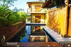 Casa feita com eucalipto tratado.