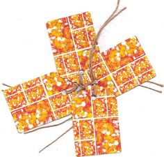 Tag set  'ORANGE'  350gsm white card  by FrancesGoldstein on Etsy