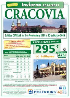 CRACOVIA, salidas del 10/11 al 15/03 desde Madrid (4d/3n) precio final desde 475€ ultimo minuto - http://zocotours.com/cracovia-salidas-del-1011-al-1503-desde-madrid-4d3n-precio-final-desde-475e-ultimo-minuto/