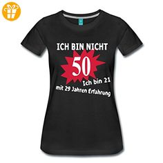 50. Geburtstag Frauen Premium T-Shirt von Spreadshirt®, XXL, Schwarz - Shirts zum geburtstag (*Partner-Link)
